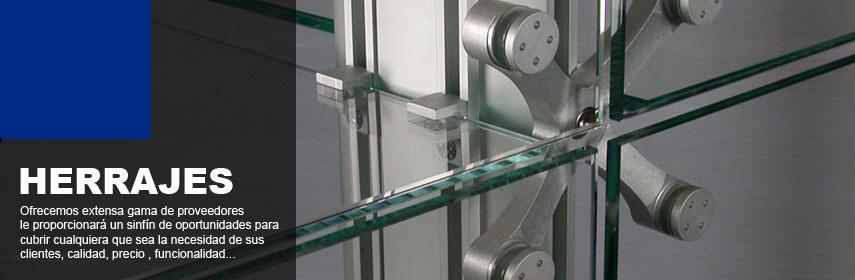 Tecnosoluciones en aluminio y vidrio distribuidores de for Herrajes para toldos de aluminio